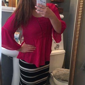 Pink blouse chiffon